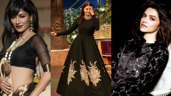 bollywood divas in black