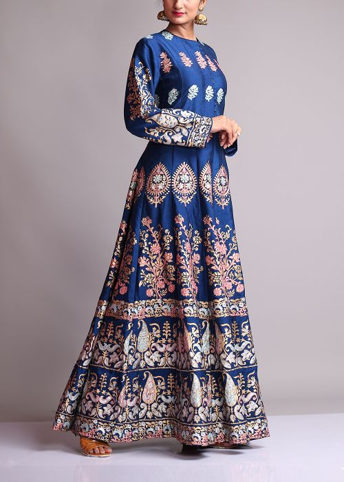 Blue-Anarkali-Suits-Designs-Online-Engagement-Ceremony