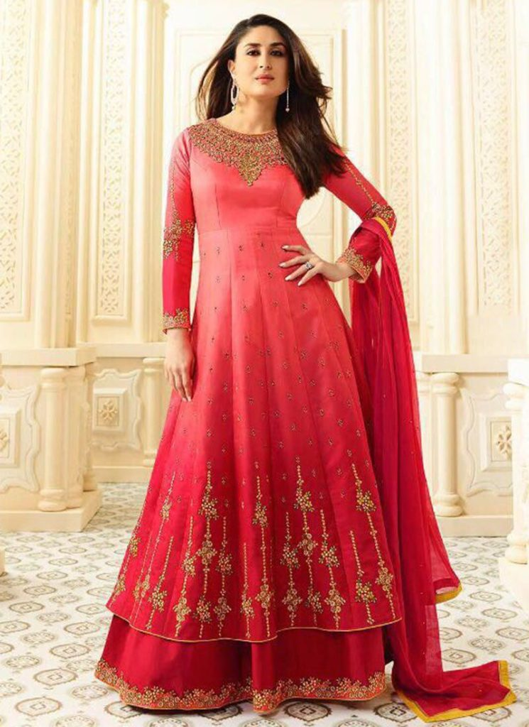 Georgette-Red-Anarkali-Suits-Designs-Online-Engagement-Ceremony