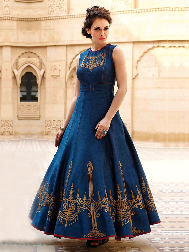 Long-Flair-Blue-Anarkali-Suits-Designs-Online-Engagement-Ceremony