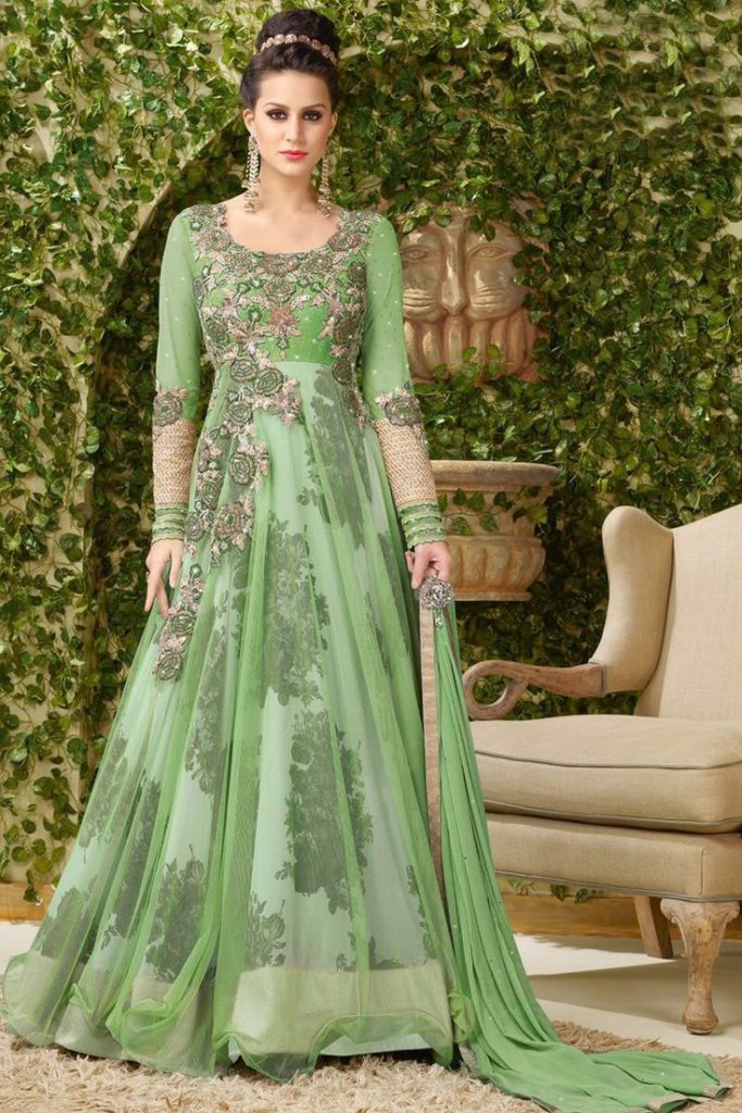 Printed-Net-Anarkali-Suits-Designs-Online-Engagement-Ceremony