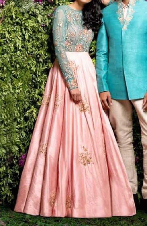 Two-Shade-Anarkali-Suits-Designs-Online-Engagement-Ceremony