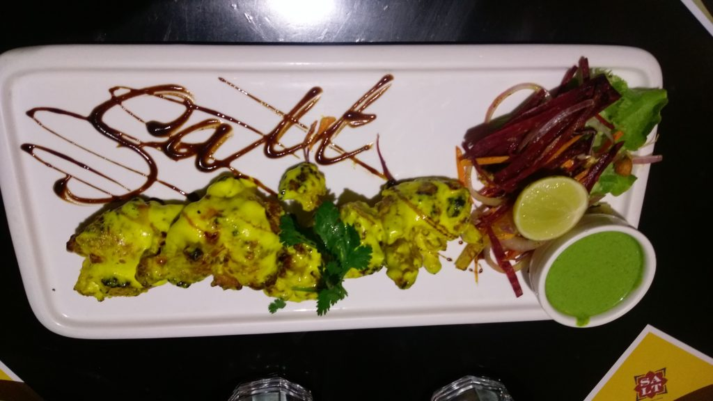 salt-Saffron Chicken Malai Tikka