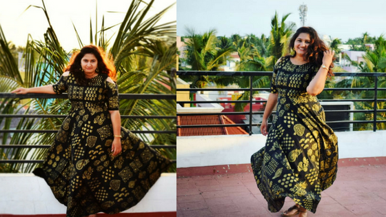 Black and Golg Long Kurti
