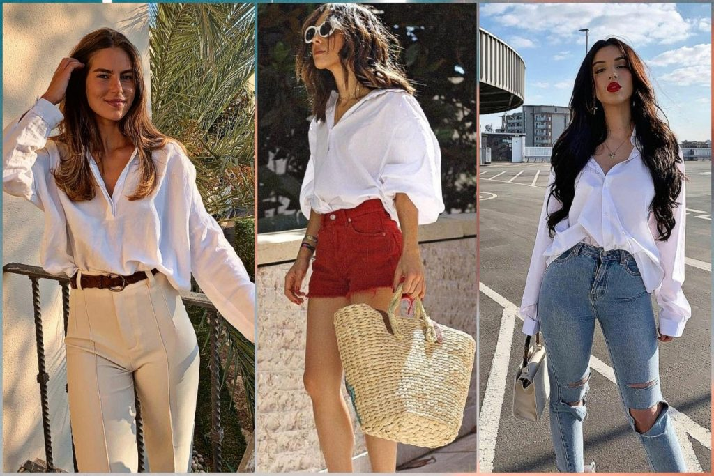 how to wear white shirt